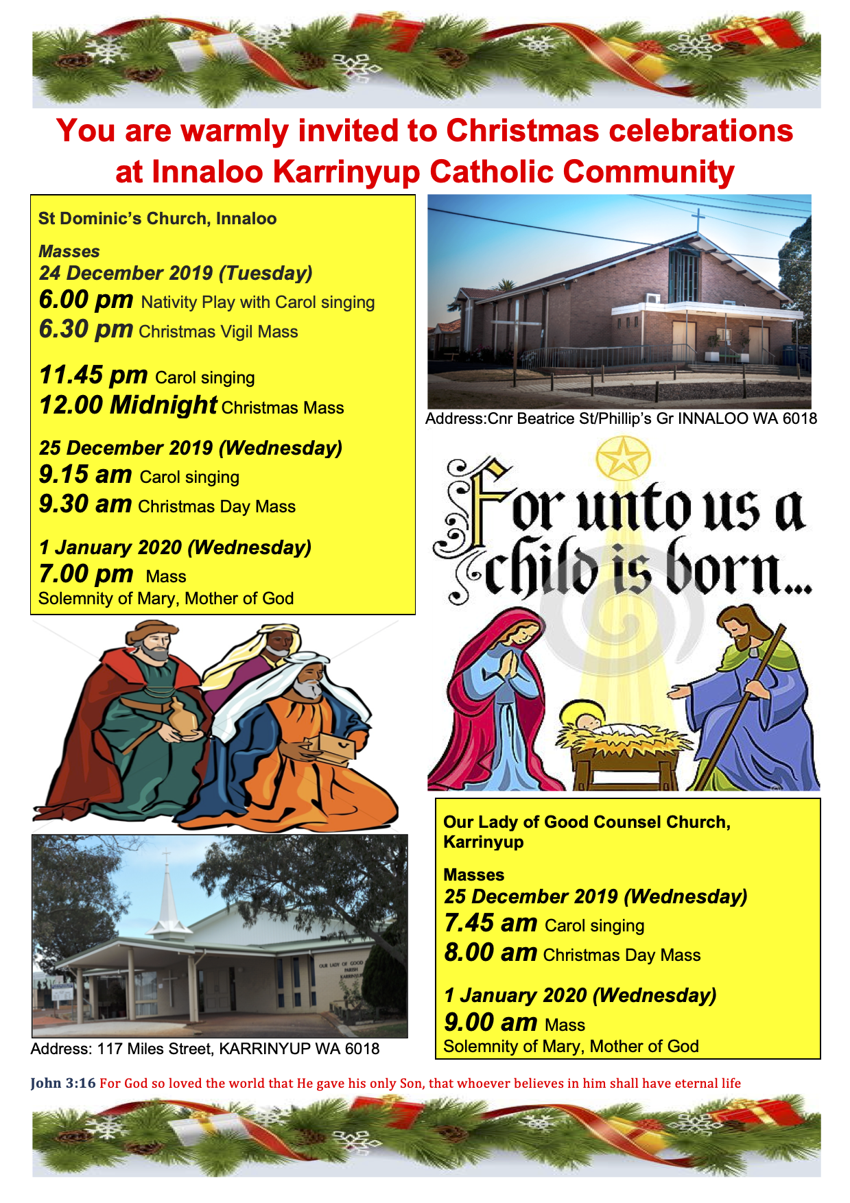 Christmas Programme at Innaloo Karrinyup Catholic Parish 2019 v4